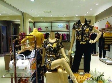 兰蔻化妆品欧式商场店面照片