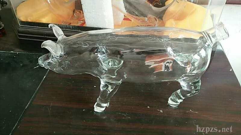 猪猪造型香精香水瓶子手工玻璃***精油瓶